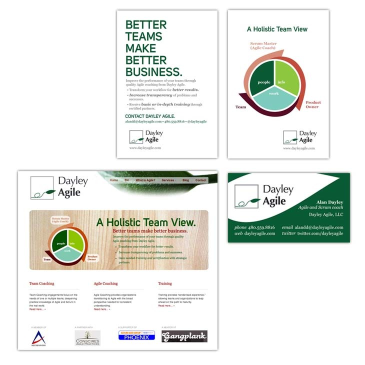 Dayley Agile, part 2: Business cards, postcards and website – Bold ...