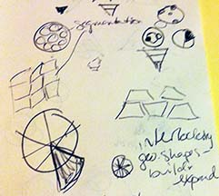 Early sketches for Audience Audit web icon project.