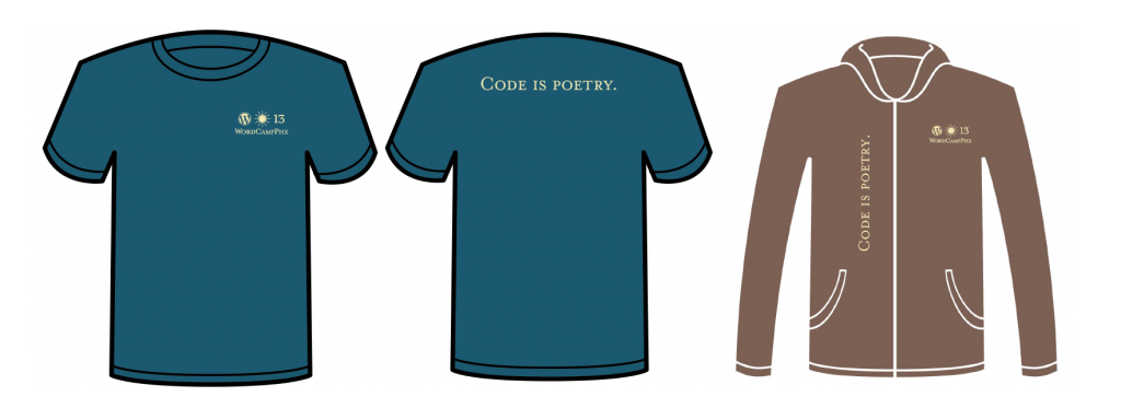 WCPHX final hoodie and t-shirt designs