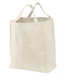 Shopping tote made from 100% certified organic cotton.